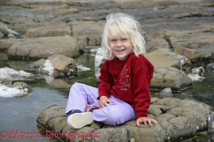 Little girl at Kimmeridge