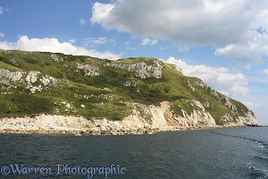 Whitenothe cliffs from the sea