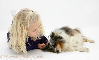Girl and Sheltie