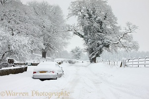 The New Road, Albury, with snow cover