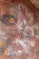 Cave hand paintings