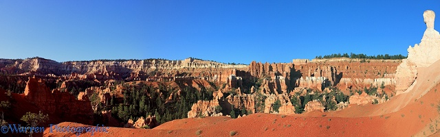 Hoodoos at Bryce Canyon panorama