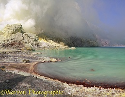 Sulphuric acid lake at Kawah Ijen