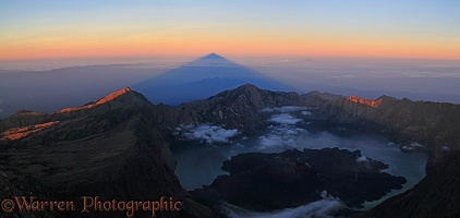 Rinjani summit at sunrise