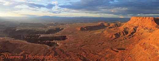Canyonlands at sunrise panorama