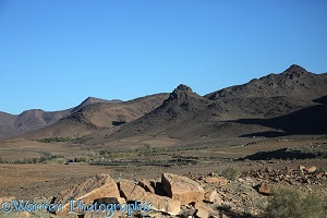 Desert landscape, southern Atlas Mountains