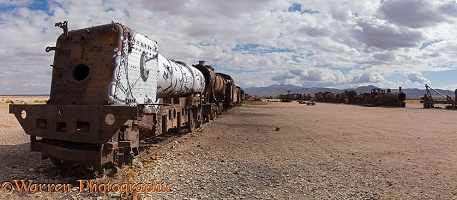 Abandoned locomotive, Train Cemetery, Uyuni, Bolivia