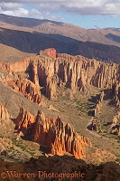 Rugged Bolivia landscape with rock pinnacles