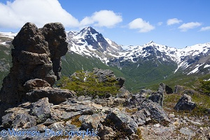 Rocky alpine view, Los Alerces National Park, Argentina