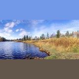 Finland river panorama