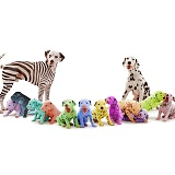 Colourful Dalmatian family