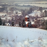 Albury Church in the snow