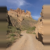 Road down Charyn Canyon, Kazakhstan
